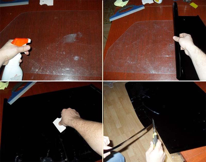 Как самому сделать съемную тонировку фото 309