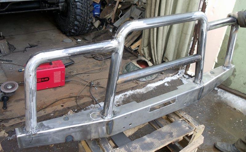 Изготовление и установка силового бампера 16