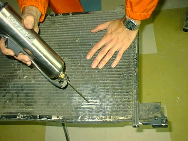 Алюминиевый радиатор автомобиля своими руками