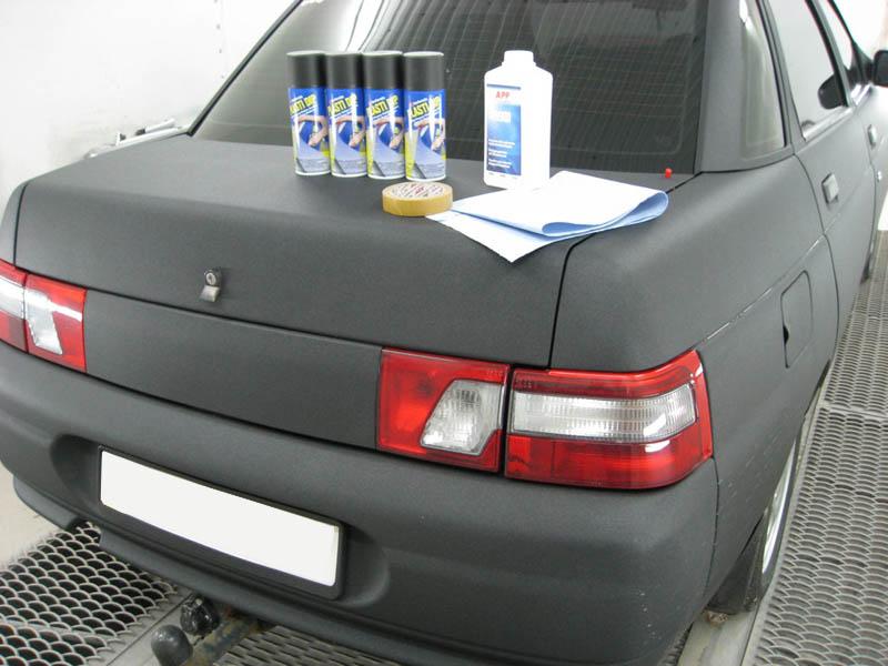 Пример резиновой автокраски
