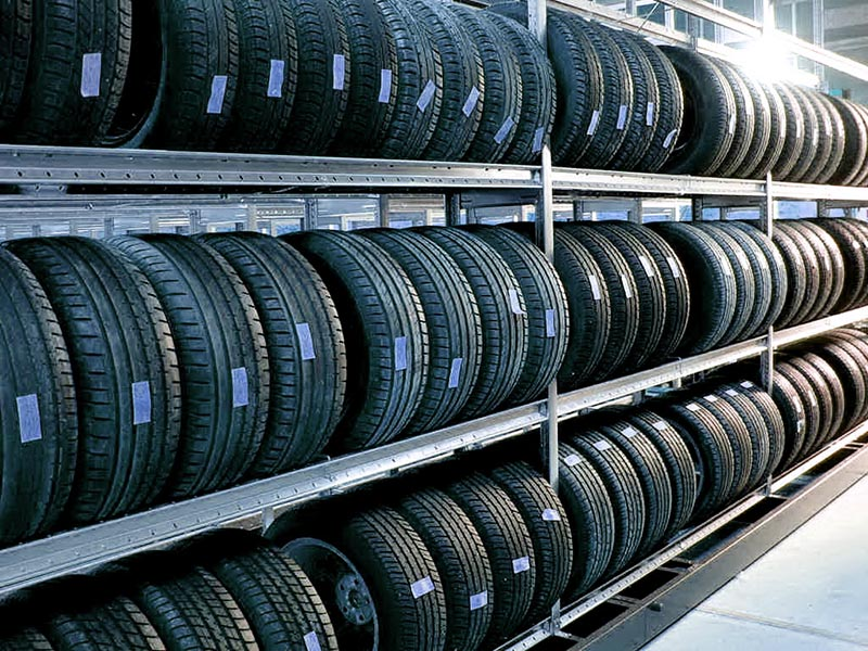 Хранение шин на специализированном складе