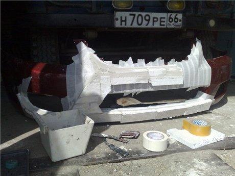 Оклейка бампера для модификации