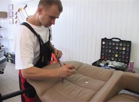 Восстановление кожаного салона автомобиля
