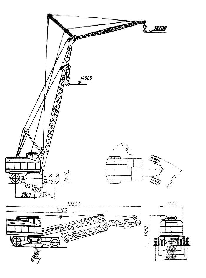 кран кс 5363: технические характеристики